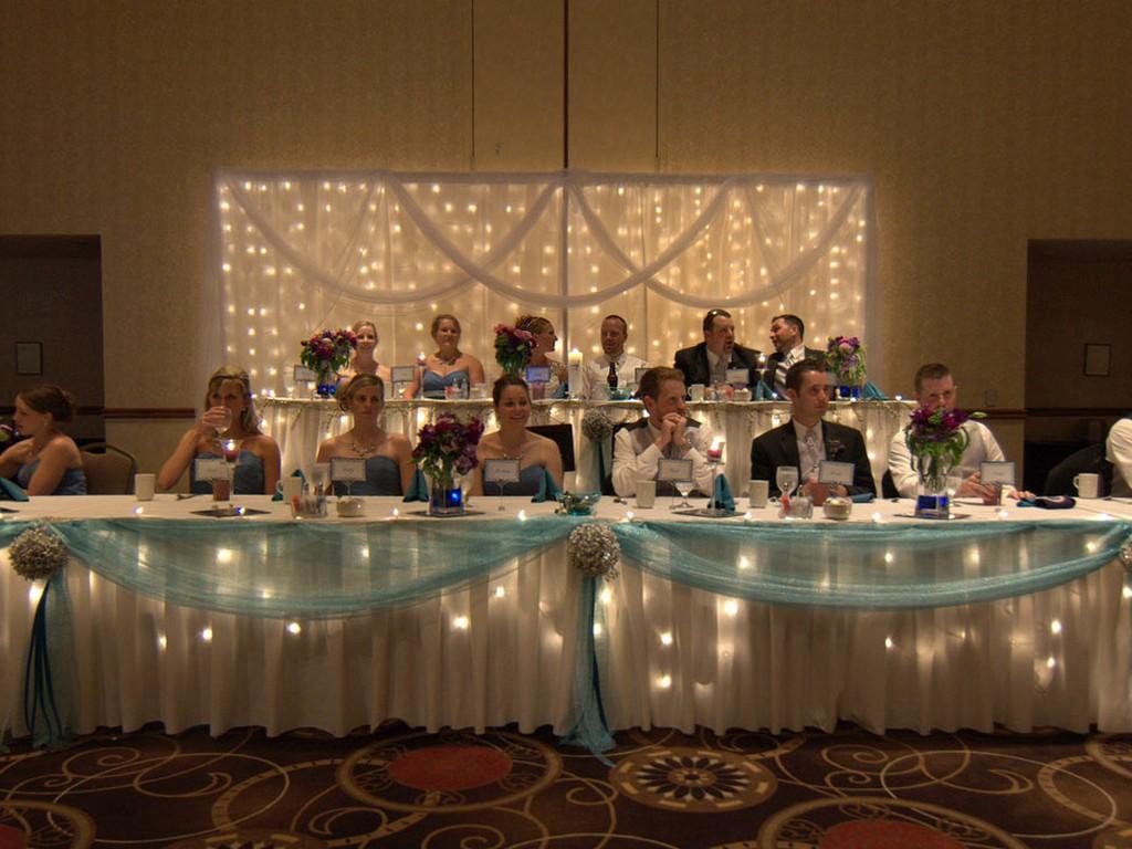 An Elegant Blue Springs Wedding Reception Is Held In The Grand Ballroom